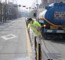동두천시, 봄맞이 교통시설물 물청소 …